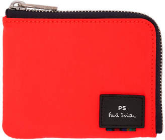 Paul Smith Orange Zipped Card Holder