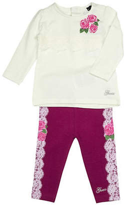 GUESS Girl's Two-Piece Floral Tee Leggings Set