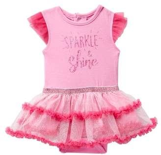 Rene Rofe Sparkle & Shine Tutu Bodysuit (Baby Girls)