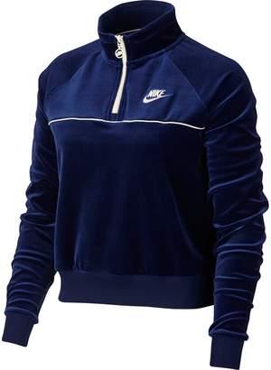 Nike Sportswear Quarter Zip Velour Pullover