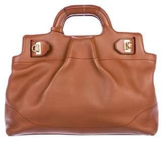 Salvatore Ferragamo Gancio Leather Satchel