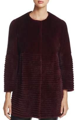 Maximilian Furs Collarless Mink Fur Coat