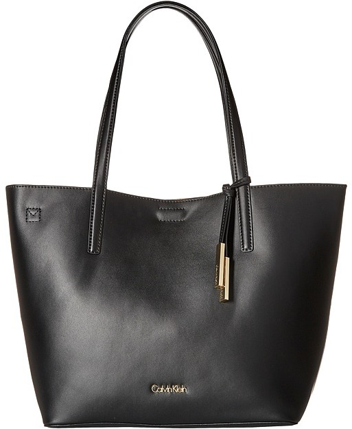 Calvin Klein Calvin Klein Key Items Smooth Leather Tote