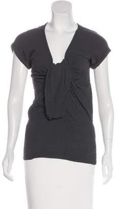 Isabel Marant Textured Short Sleeve Top