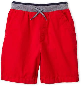 Osh Kosh B'gosh (Boys 4-7) Red Ribbed Waist Shorts