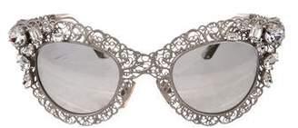 Dolce & Gabbana Crystal Filigree Sunglasses