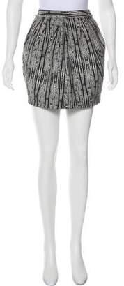 L'Agence Textured Mini Skirt