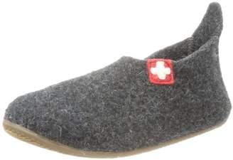 Living Kitzbühel Slipper Schweizer Kreuz Slippers Unisex-Child Gray Size: