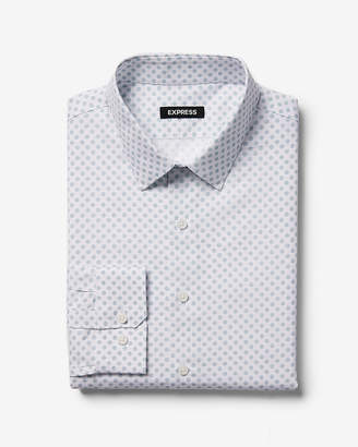 Express Extra Slim Geometric Print Dress Shirt