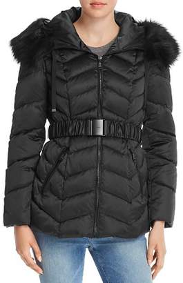 T Tahari Leon Belted Quilted Jacket
