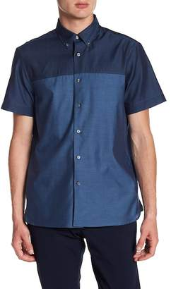 Perry Ellis Colorblock Short Sleeve Regular Fit Shirt