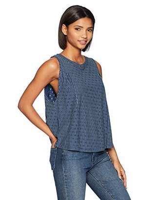 Brooke Mille Women's Side Panel Gathered Cut Sleeve Top L