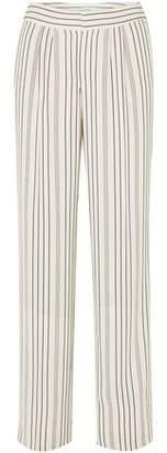 Frame Striped Twill Wide-leg Pants