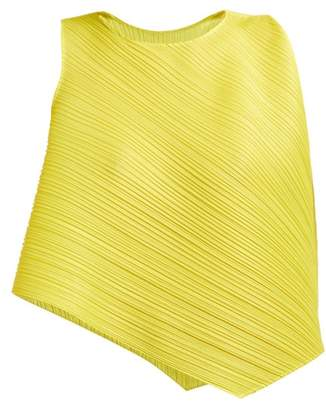 98ce52222b868 Pleats Please Issey Miyake Asymmetric Pleated Top - Womens - Yellow