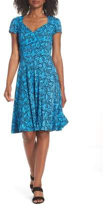 Leota Print Jersey Fit & Flare Dress