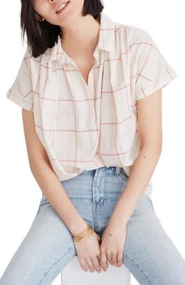 Madewell Central Fine Plaid Popover Shirt