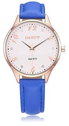 naivo Women's Quartz Stainless Steel and Gold Plated Watch