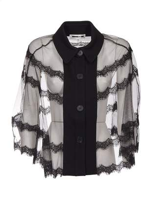 McQ See-through Fringed Lace Shirt