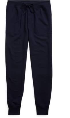Ralph Lauren Suede-Trim Wool-Blend Pant