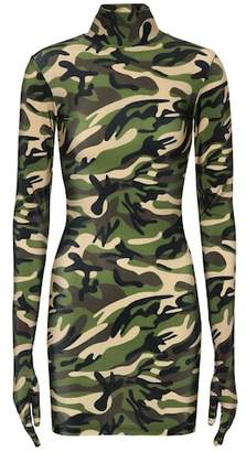 Vetements Camouflage glove dress