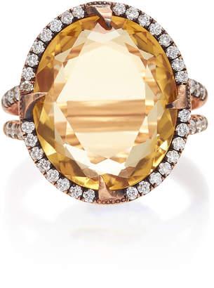 Sylva & Cie 14K Rose Gold Citrine and Diamond Ring