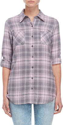 Derek Heart Flannel Plaid Shirt Tunic