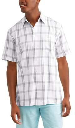 George Big and Tall Men's Short Sleeve Microfiber Shirt