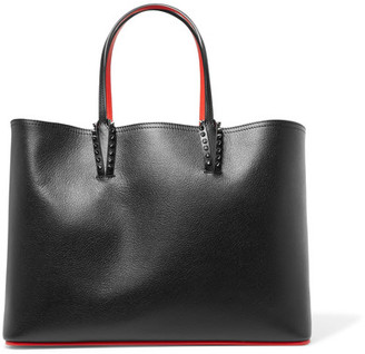 Christian Louboutin - Cabata Studded Textured-leather Tote - Black $1,250 thestylecure.com