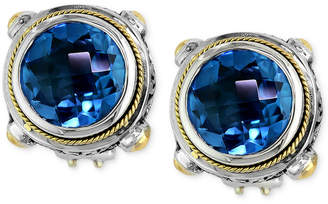 Effy Balissima By Blue Topaz Round Stud Earrings 7 5 8 Ct