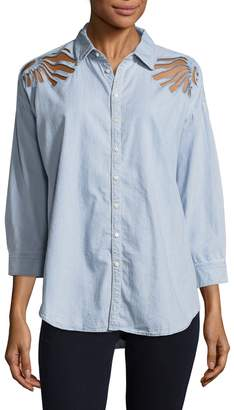 3x1 Women's Freja Cut-out Shirt