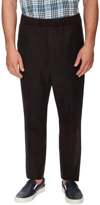 Vince Linen Ankle Zip Pleated Trouser