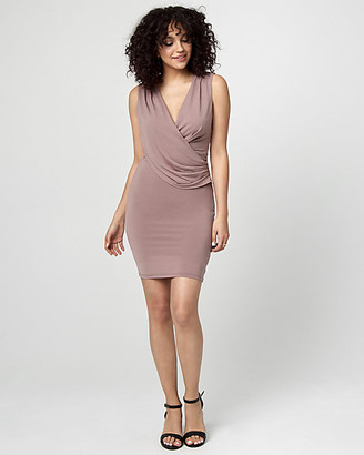 Le Château Draped Wrap Cocktail Dress
