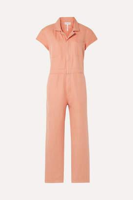 Apiece Apart Azore Cotton And Linen-blend Twill Jumpsuit - Peach