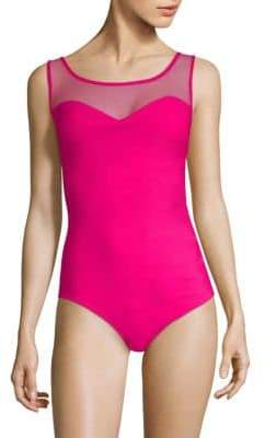 Chiara Boni One-Piece Mesh Yoke Swimsuit