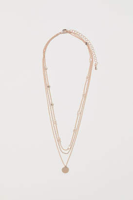 H&M Triple-strand Necklace - Orange
