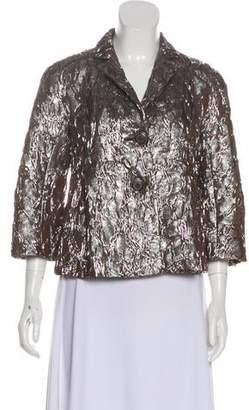Michael Kors Metallic Button-Up Jacket