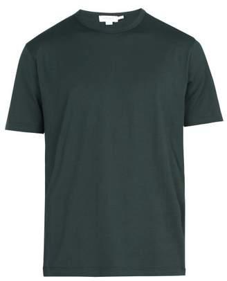 Sunspel Classic Crew Neck Cotton T Shirt - Mens - Green
