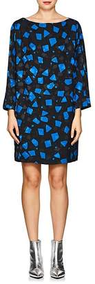 Marc Jacobs Women's Geometric-Print Crepe Shift Dress