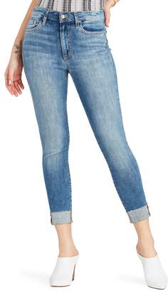 Joe's Jeans Charlie High Waist Raw Hem Crop Skinny Jeans