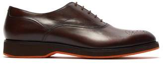 Harry's of London David Leather Oxford Shoes - Mens - Dark Brown