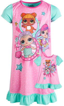LTB Ame Little & Big Girls L.O.L. Surprise! Nightgown & Doll Nightgown