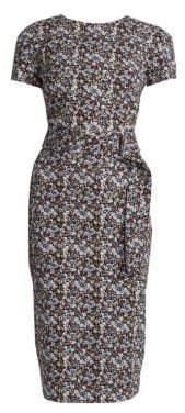 Victoria Beckham Belted Floral T-Shirt Dress