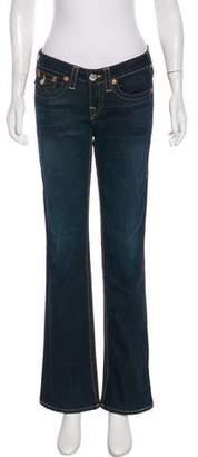 True Religion Mid-Rise Wide-Leg Jeans