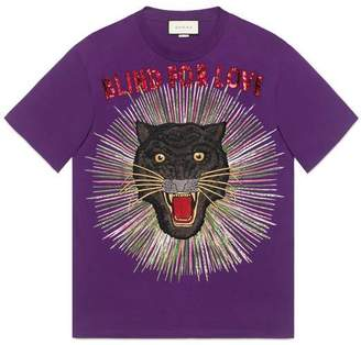 Gucci Panther with rays cotton T-shirt