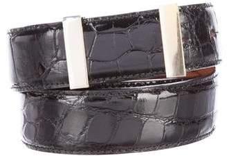 Calvin Klein Collection Alligator Waist Belt