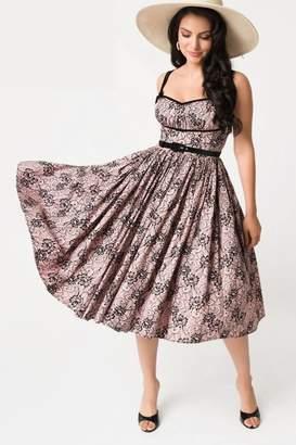 Unique Vintage Micheline Pitt Alice-Swing-Dress