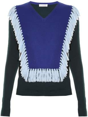 Ming tassel-trim wool sweater