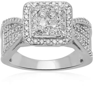 MODERN BRIDE 1 CT. T.W. Diamond 10K White Gold Engagement Ring