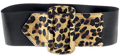 Nicole Miller Leopard-Print Belt