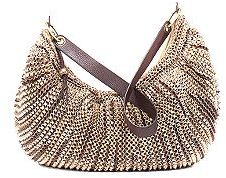 Stephanie Large Slouchy Hobo Bag in Gold Metallic